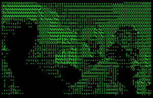 deep.ascii (still); streaming text, 61 minutes