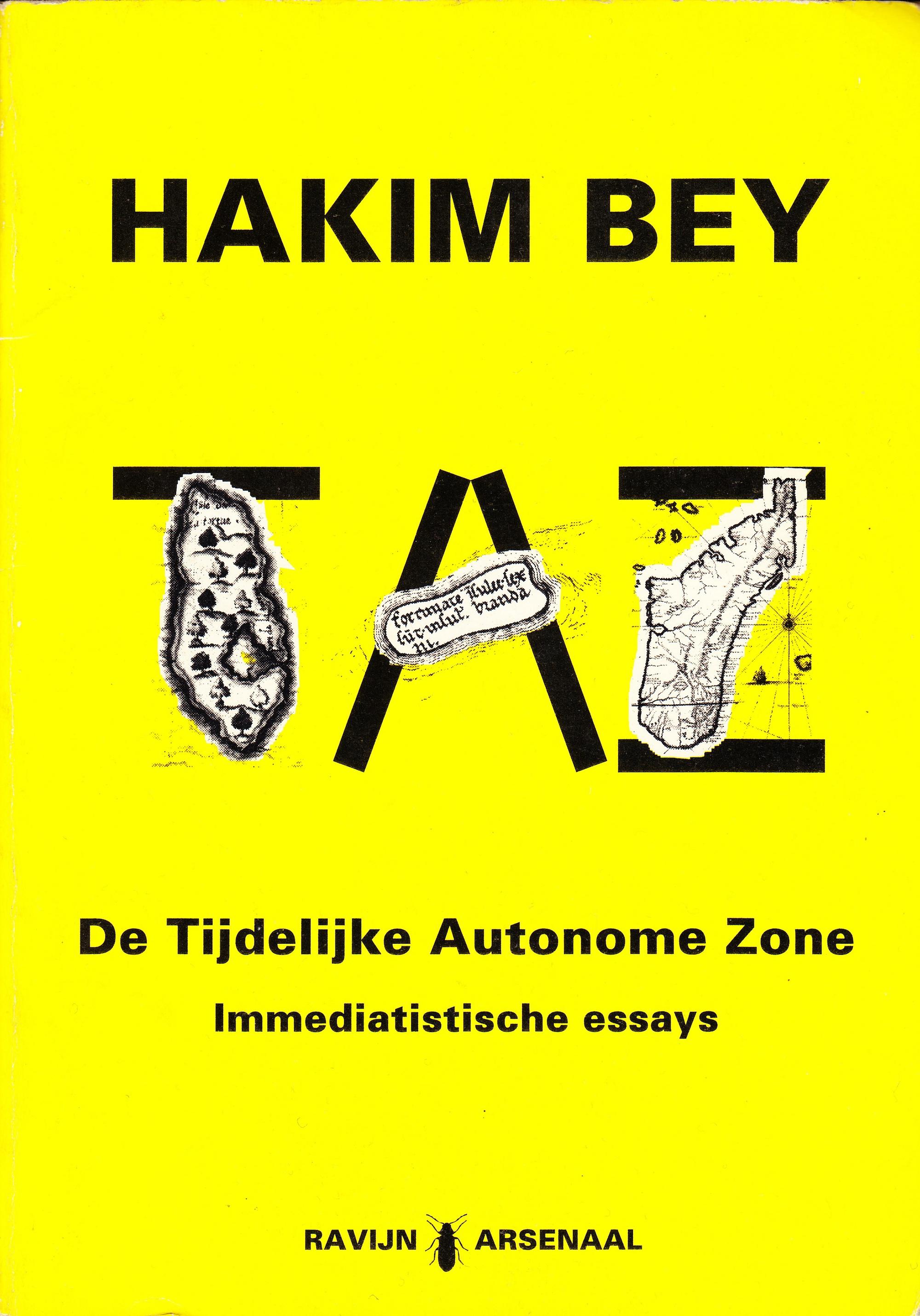 Boekontwerp. Hakim Bey: TAZ, Ravijn Uitgeverij 1994