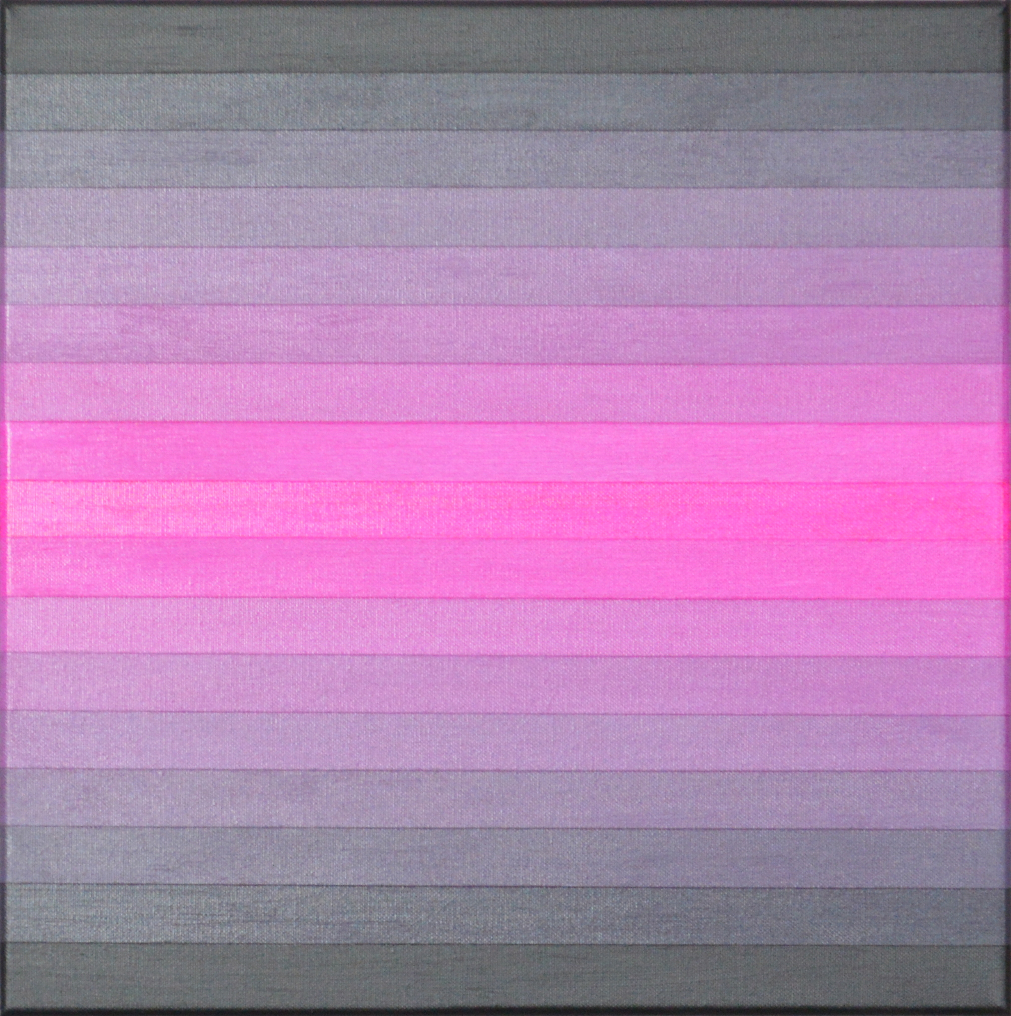 17, black white and magenta, 2015 Acrylic on canvas 40 x 40 cm