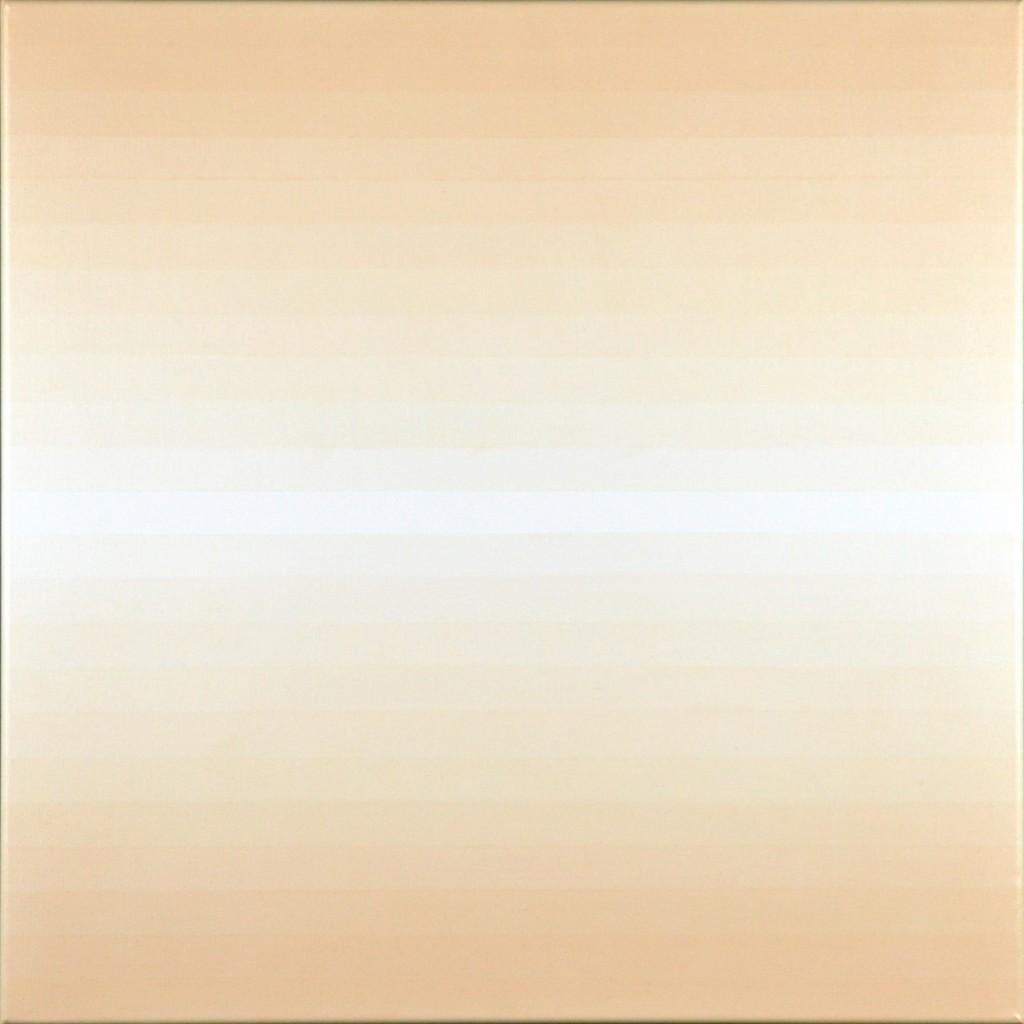 23 white, magenta and orange 2015 acrylic on canvas 60x60cm